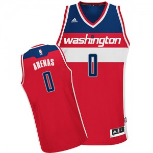 Maillot NBA Rouge Gilbert Arenas #0 Washington Wizards Road Swingman Homme Adidas