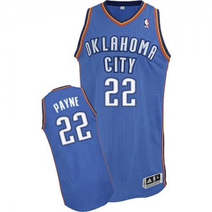 Maillot NBA Oklahoma City Thunder #22 Cameron Payne Bleu royal Adidas Authentic Road - Homme
