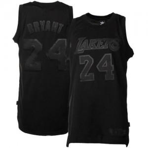 Los Angeles Lakers Kobe Bryant #24 Authentic Maillot d'équipe de NBA - Noir / noir pour Homme