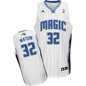 Maillot NBA Blanc C.J. Watson #32 Orlando Magic Home Swingman Homme Adidas