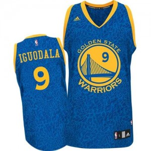Maillot NBA Authentic Andre Iguodala #9 Golden State Warriors Crazy Light Bleu - Homme