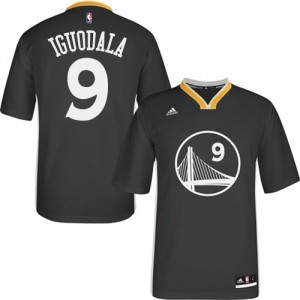 Maillot NBA Noir Andre Iguodala #9 Golden State Warriors Alternate Authentic Homme Adidas