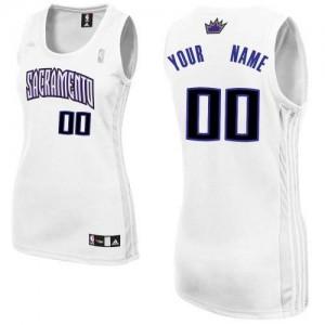 Sacramento Kings Authentic Personnalisé Home Maillot d'équipe de NBA - Blanc pour Femme