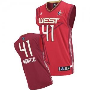 Maillot NBA Dallas Mavericks #41 Dirk Nowitzki Rouge Adidas Swingman 2010 All Star - Homme