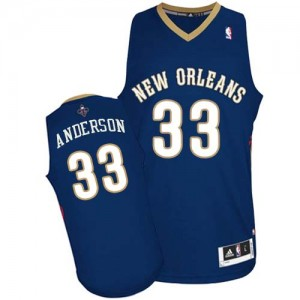 Maillot NBA Authentic Ryan Anderson #33 New Orleans Pelicans Road Bleu marin - Homme