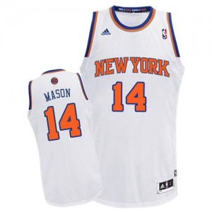 Maillot NBA Blanc Anthony Mason #14 New York Knicks Home Swingman Homme Adidas