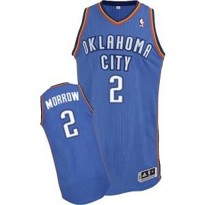 Maillot NBA Authentic Anthony Morrow #2 Oklahoma City Thunder Road Bleu royal - Homme