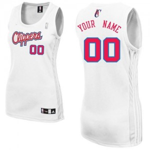 Maillot NBA Los Angeles Clippers Personnalisé Authentic Blanc Adidas Home - Femme