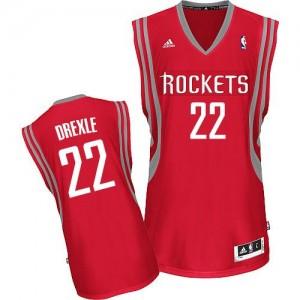 Houston Rockets #22 Adidas Road Rouge Swingman Maillot d'équipe de NBA Prix d'usine - Clyde Drexler pour Homme