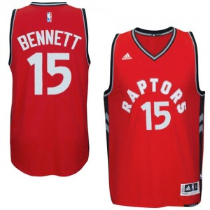 Maillot NBA Toronto Raptors #15 Anthony Bennett Rouge Adidas Swingman climacool - Homme