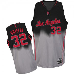 Maillot NBA Los Angeles Clippers #32 Blake Griffin Gris noir Adidas Authentic Fadeaway Fashion - Homme