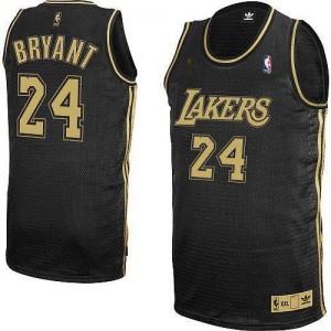 Maillot NBA Authentic Kobe Bryant #24 Los Angeles Lakers Champions Patch Noir / Gris No. - Homme