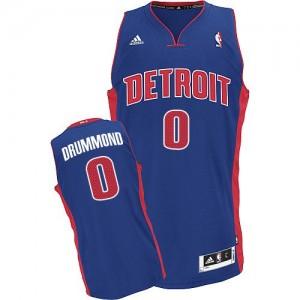 Detroit Pistons Andre Drummond #0 Road Swingman Maillot d'équipe de NBA - Bleu royal pour Homme