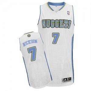Maillot Authentic Denver Nuggets NBA Home Blanc - #7 JJ Hickson - Homme