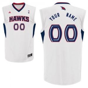 Maillot Atlanta Hawks NBA Home Blanc - Personnalisé Swingman - Homme