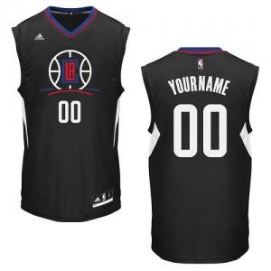 Maillot NBA Noir Authentic Personnalisé Los Angeles Clippers Alternate Enfants Adidas
