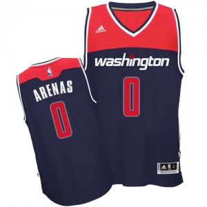 Maillot NBA Washington Wizards #0 Gilbert Arenas Bleu marin Adidas Authentic Alternate - Homme