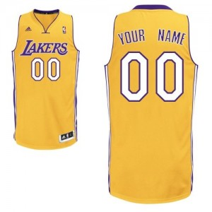 Maillot Adidas Or Home Los Angeles Lakers - Swingman Personnalisé - Enfants