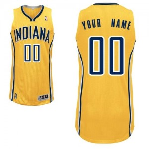 Maillot NBA Indiana Pacers Personnalisé Authentic Or Adidas Alternate - Homme