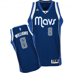 Dallas Mavericks #8 Adidas Alternate Bleu marin Swingman Maillot d'équipe de NBA Vente - Deron Williams pour Femme
