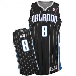 Orlando Magic #8 Adidas Alternate Noir Authentic Maillot d'équipe de NBA la vente - Channing Frye pour Homme