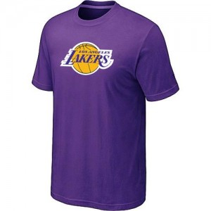 T-shirt principal de logo Los Angeles Lakers NBA Big & Tall Violet - Homme
