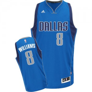 Maillot Swingman Dallas Mavericks NBA Road Bleu royal - #8 Deron Williams - Femme