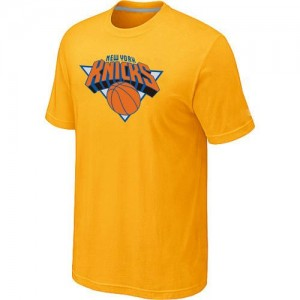 T-Shirts NBA New York Knicks Jaune Big & Tall - Homme