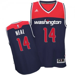 Washington Wizards Gary Neal #14 Alternate Authentic Maillot d'équipe de NBA - Bleu marin pour Homme