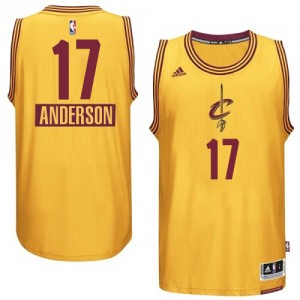 Maillot NBA Cleveland Cavaliers #17 Anderson Varejao Or Adidas Swingman 2014-15 Christmas Day - Homme