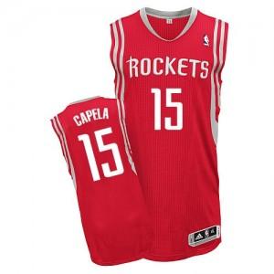 Maillot NBA Authentic Clint Capela #15 Houston Rockets Road Rouge - Homme