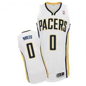 Indiana Pacers C.J. Miles #0 Home Authentic Maillot d'équipe de NBA - Blanc pour Homme