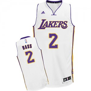 Los Angeles Lakers Brandon Bass #2 Alternate Swingman Maillot d'équipe de NBA - Blanc pour Homme