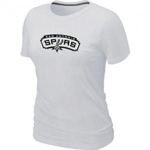 San Antonio Spurs Big & Tall T-Shirts d'équipe de NBA - Blanc pour Femme