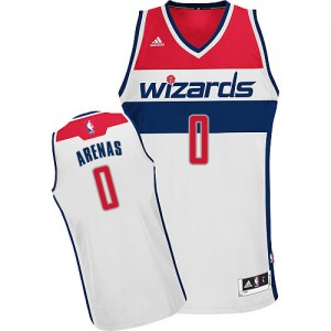 Maillot NBA Blanc Gilbert Arenas #0 Washington Wizards Home Swingman Homme Adidas