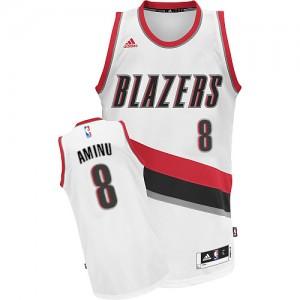 Maillot Adidas Blanc Home Swingman Portland Trail Blazers - Al-Farouq Aminu #8 - Homme