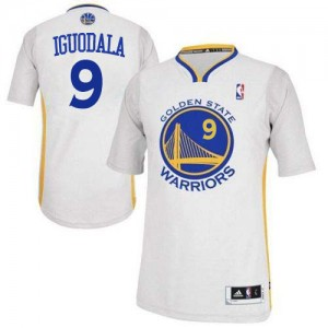 Maillot Adidas Blanc Alternate Authentic Golden State Warriors - Andre Iguodala #9 - Homme