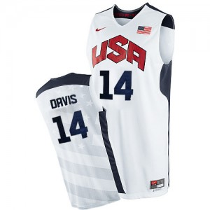Maillot Nike Blanc 2012 Olympics Authentic Team USA - Anthony Davis #14 - Homme