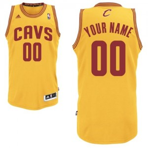 Cleveland Cavaliers Swingman Personnalisé Alternate Maillot d'équipe de NBA - Or pour Enfants