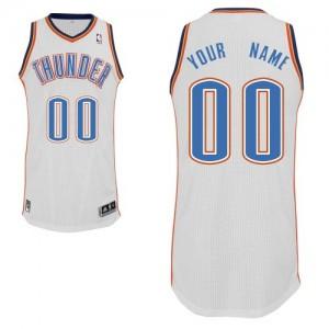 Oklahoma City Thunder Personnalisé Adidas Home Blanc Maillot d'équipe de NBA en ligne pas chers - Authentic pour Homme