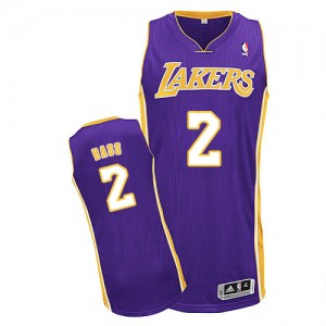 Maillot NBA Authentic Brandon Bass #2 Los Angeles Lakers Road Violet - Homme