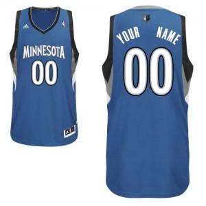 Maillot NBA Slate Blue Swingman Personnalisé Minnesota Timberwolves Road Homme Adidas