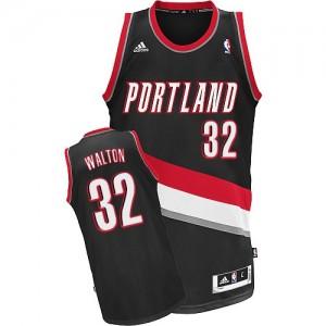 Portland Trail Blazers Bill Walton #32 Road Swingman Maillot d'équipe de NBA - Noir pour Homme