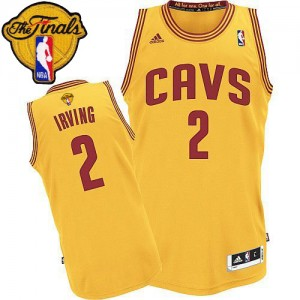 Maillot Swingman Cleveland Cavaliers NBA Alternate 2015 The Finals Patch Or - #2 Kyrie Irving - Enfants