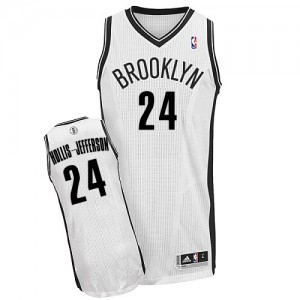 Maillot NBA Brooklyn Nets #24 Rondae Hollis-Jefferson Blanc Adidas Authentic Home - Homme