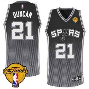 San Antonio Spurs Tim Duncan #21 Resonate Fashion Finals Patch Authentic Maillot d'équipe de NBA - Noir pour Homme