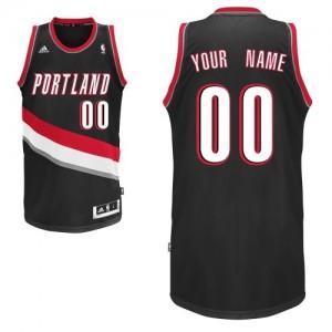 Portland Trail Blazers Personnalisé Adidas Road Noir Maillot d'équipe de NBA la meilleure qualité - Swingman pour Homme