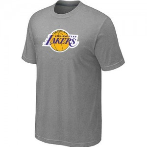 T-shirt principal de logo Los Angeles Lakers NBA Big & Tall Gris - Homme