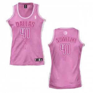 Dallas Mavericks #41 Adidas Fashion Rose Swingman Maillot d'équipe de NBA Promotions - Dirk Nowitzki pour Femme