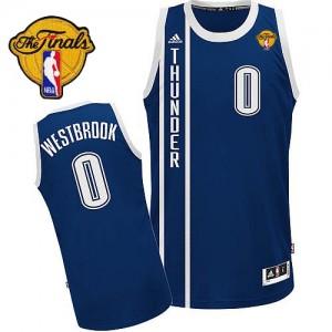 Maillot NBA Oklahoma City Thunder #0 Russell Westbrook Bleu marin Adidas Swingman Alternate Finals Patch - Homme